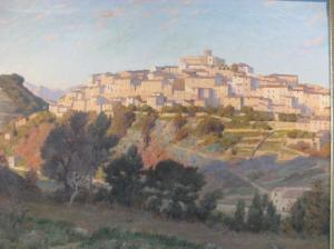 19th-c. painting of Chateau Grimaldi