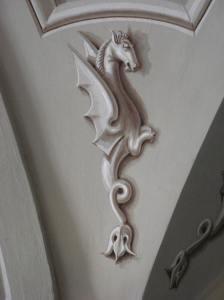 Detail of roof fresco