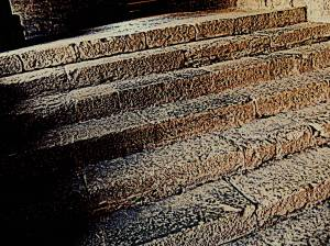 Stairs worn by centuries of use