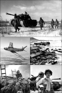 Montage of Korean War
