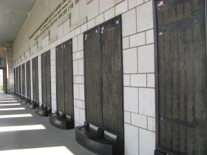 War Memorial, Ichon, West Seoul: the names, the names